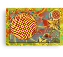 Abstract Spheres in Motion Canvas Print
