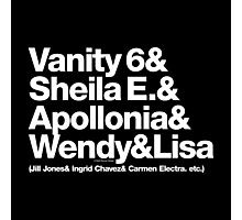 Prince Proteges Apollonia & Carmen Electra Helvetica Ampersand Photographic Print