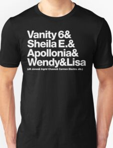 Prince Proteges Apollonia & Carmen Electra Helvetica Ampersand T-Shirt