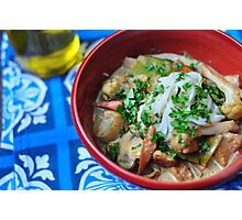 Thai Green Curry Chicken and Cauliflower Photographic Print