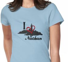 Haven I Love Nathan Logo Womens Fitted T-Shirt