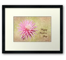 Pink Mum with Little Bud ~ for Mom Framed Print