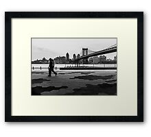 Walk away from the city Framed Print