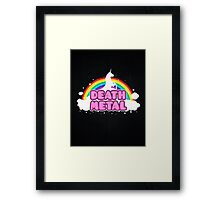 DEATH METAL! (Funny Unicorn / Rainbow Mosh Parody Design) Framed Print