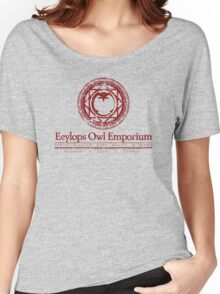 Eeylops Owl Emporium in Red Women's Relaxed Fit T-Shirt