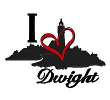 Haven I Love Dwight Logo Photographic Print
