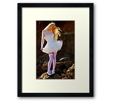 A Rock and a Soft Place Framed Print