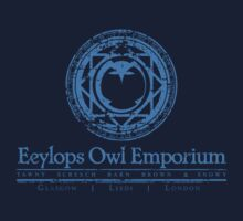 Eeylops Owl Emporium in Blue Kids Tee