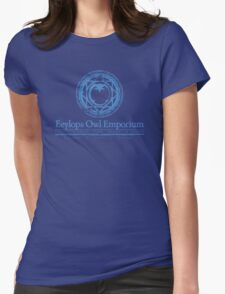 Eeylops Owl Emporium in Blue Womens Fitted T-Shirt