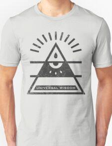 Universal Wisdom - Typography and Geometry T-Shirt
