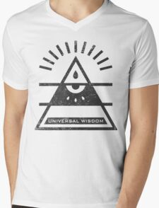 Universal Wisdom - Typography and Geometry Mens V-Neck T-Shirt