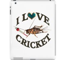 FOR THE LOVE OF THE SPORT & GAME OF CRICKET..FUN PICTURE OF A CRICKET PLAYING THE GAME CRICKET LOL...TEE SHIRTS,PILLOWS,TOTE BAGS,SCARF,CELL PHONE COVERS ECT.. iPad Case/Skin