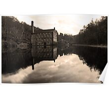 Old mill & pond Poster