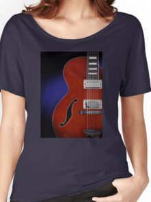 Ibanez AF75 Hollowbody Electric Guitar Front View Women's Relaxed Fit T-Shirt