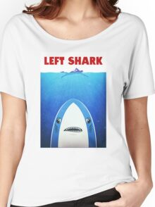 Left Shark Parody - Jaws - Funny Movie / Meme Humor Women's Relaxed Fit T-Shirt