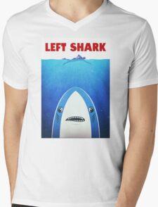Left Shark Parody - Jaws - Funny Movie / Meme Humor Mens V-Neck T-Shirt