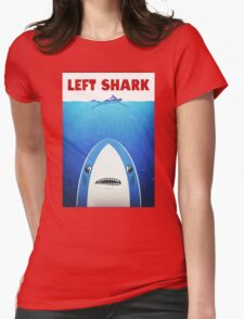 Left Shark Parody - Jaws - Funny Movie / Meme Humor Womens Fitted T-Shirt