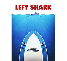 Left Shark Parody - Jaws - Funny Movie / Meme Humor Photographic Print