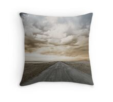 The Long Road West Throw Pillow