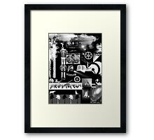 A (Very) Condensed Poster of the Ascent of Man Framed Print