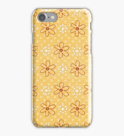 Little Flowers - Red and Gold iPhone Case/Skin