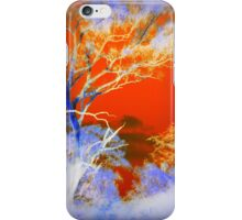 Forest Encounters with Orange Sky iPhone Case/Skin