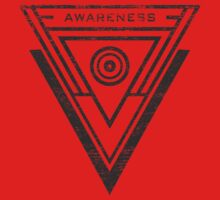 Awareness - Typography and Geometry Kids Clothes