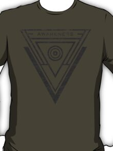 Awareness - Typography and Geometry T-Shirt