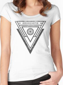Awareness - Typography and Geometry Women's Fitted Scoop T-Shirt