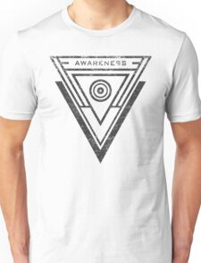 Awareness - Typography and Geometry Unisex T-Shirt