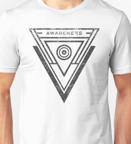 Awareness - Typography and Geometry Unisex T-Shirt