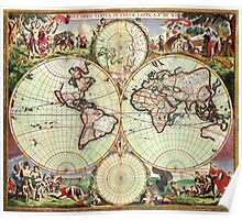 World Map 1665 Poster