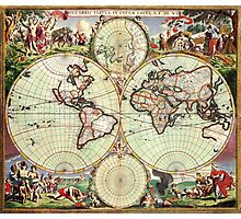 World Map 1665 Photographic Print