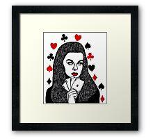 Card Girl Framed Print