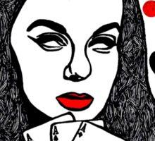 Card Girl Sticker