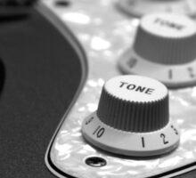 Fender Stratocaster Electronics Detail Black And White Sticker