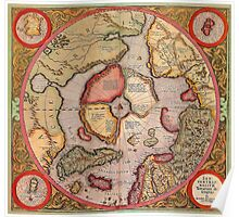 North Pole Map 1595 Poster