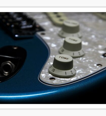 Fender Stratocaster In Blue Sparkle Electronics Detail Sticker