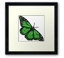 Butterfly Scarf - green Framed Print