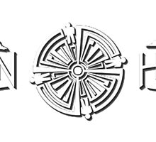 White Troubled Tattoo Haven Logo by HavenDesign