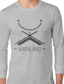 Universal Energy - Typography and Geometry Long Sleeve T-Shirt