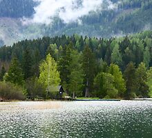 Idyllic Austrian loch with boat house by christopher363