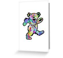 Grateful Dead Dancing Bear Trippy Greeting Card