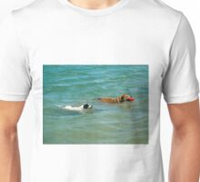 My Dogs Swimming with Red Ball  Unisex T-Shirt
