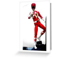 Mighty Morphin Red Ranger Greeting Card