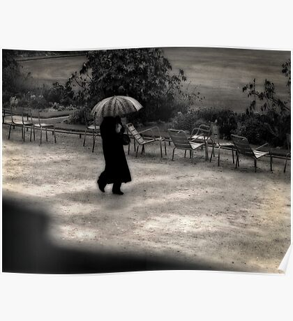 Un jour de pluie. Poster