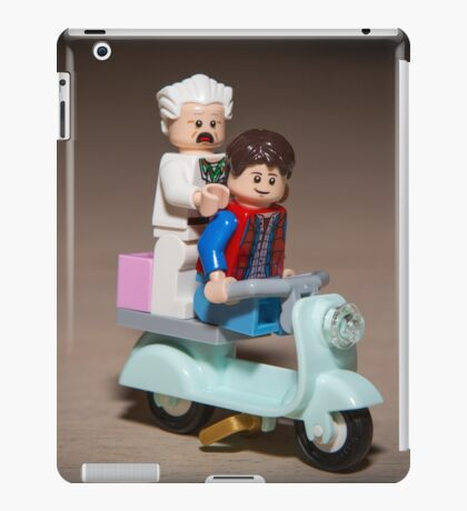 Marty and Doc ride a Scooter iPad Case/Skin