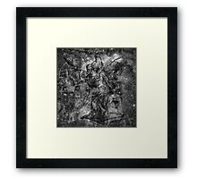 When The Stars Are Right - The Heart and Soul Nebulae in Cassiopeia (black & white version) Framed Print
