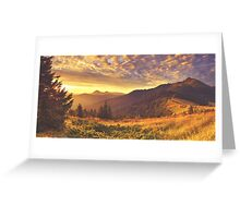 Golden Mountain Road Greeting Card