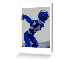 Mighty Morphin Blue Ranger Greeting Card